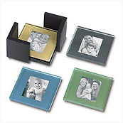 Glass Photo Coaster Set (4)