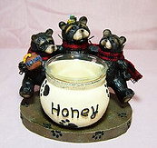 Black Bear Candleholder