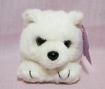 Crystal White Bear Magnet