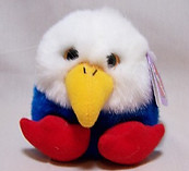 Patriot Eagle Puffkin w/Gold eyes