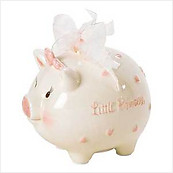 Mud Pie Princess Piggy Bank