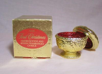 Avon First Christmas Candle Holder