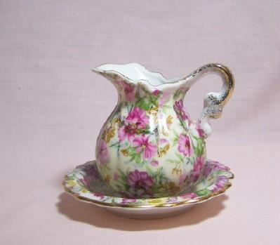 Royal Chintz Mini Pitcher & Bowl
