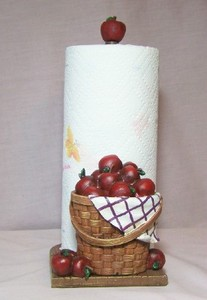 Decorative Apple Towel Holder