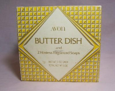 Avon Butter Dish & Soaps