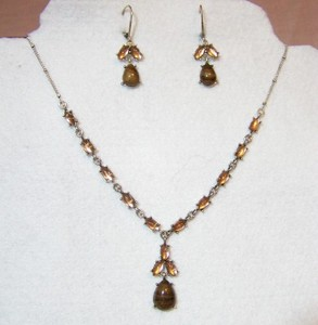 Cabochon Y Necklace Set
