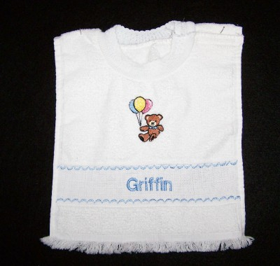Boys Personalized Baby Bib