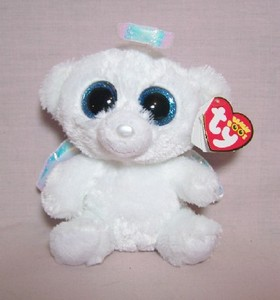 Halo the White Angel Bear Small Beanie Boo