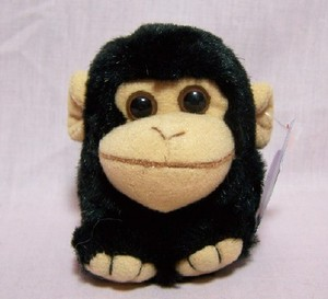 Milo Black Monkey Keychain