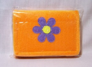 Furry Orange Flower Wallet