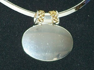 Oval Silver Pendant