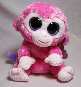 Razberry Monkey Small Beanie Boo-Retired