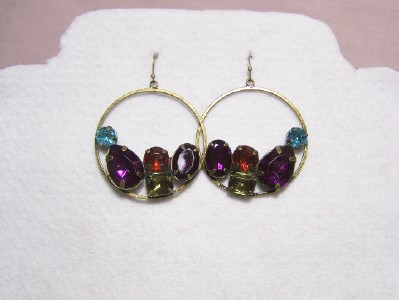 Jeweltone Hoop Earrings
