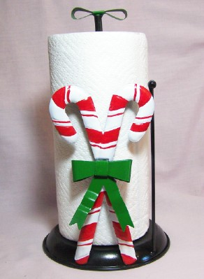 Candy Cane Paper Towel Holder