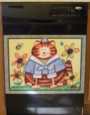 Cat Dishwasher Magnet