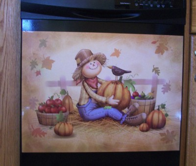Scarecrow Fall Dishwasher Magnet