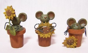 Mice in Flower Pots