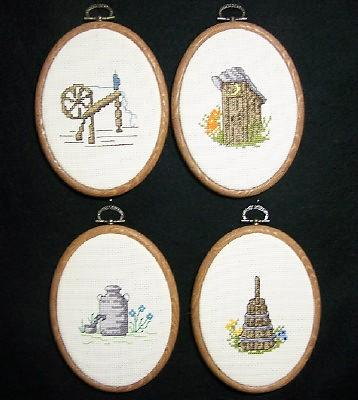 Cross Stitch Hangings