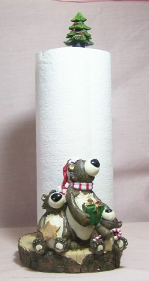 Holiday Bear Paper Towel Holder