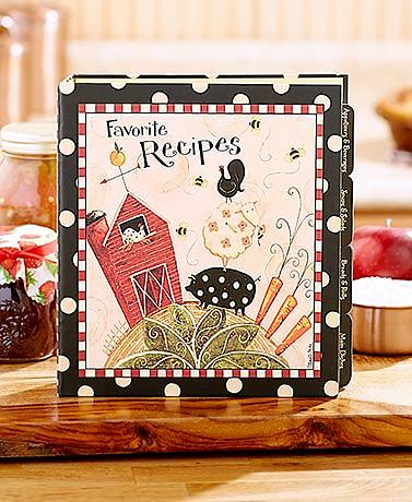 Favorite Recipes Farm Binder