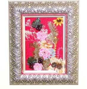 Pink Flowers Shadow Frame