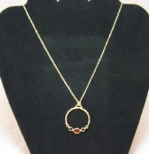Bejeweled Circle Pendant Necklace