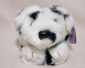 Cinder Dalmation Puffkin W/Purple Tag