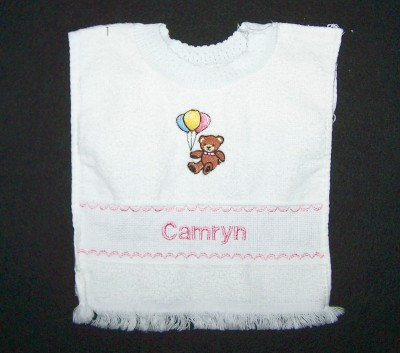 Girls Personalized Baby Bib