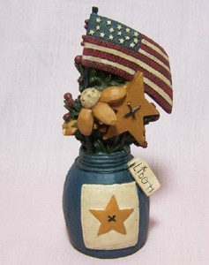 Star and Flag Jar