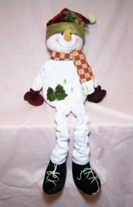Musical Animated Snowman Sitter