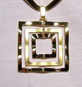 Square Gold Pendant