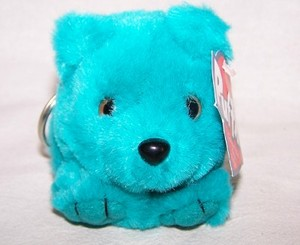 Telly Teal Bear Keychain