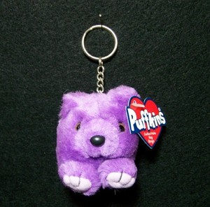 Violet Purple Bear Keychain
